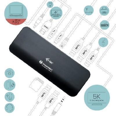 I-tec Thunderbolt 3 Dual 4K Docking Station + USB-C to DisplayPort Cable (1,5 m) + Power Adapter 180W